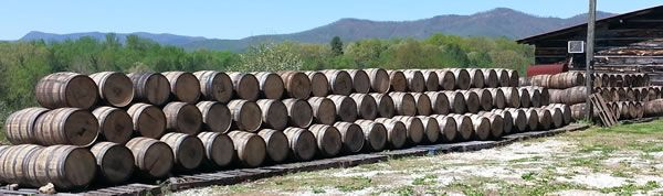 Wooden Whiskey Barrels