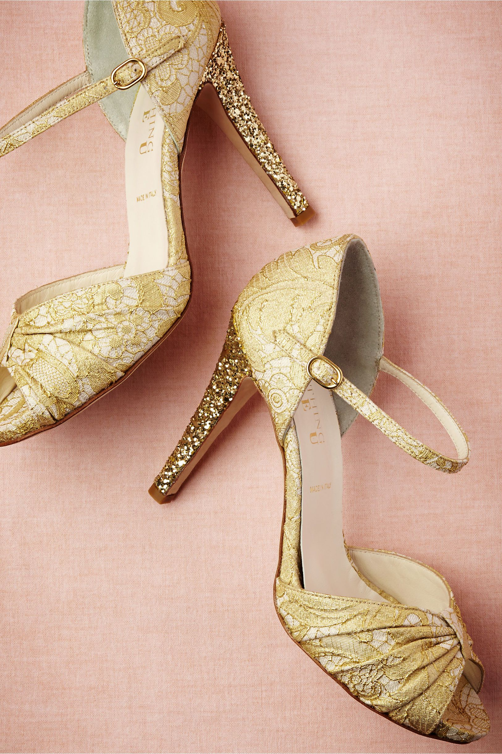 Glittery Gold Heels Yes Please Theperfectpaletteshop Bridal Shoes IvoryGold