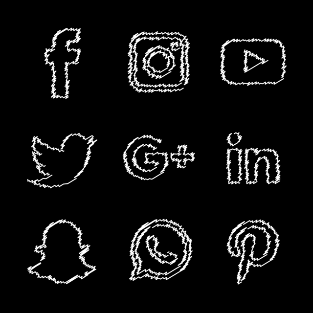 Social Media White Icons Set Social Icons Media Icons White Icons Png And Vector With Transparent Background For Free Download Media Icon Social Icons Black And White Instagram