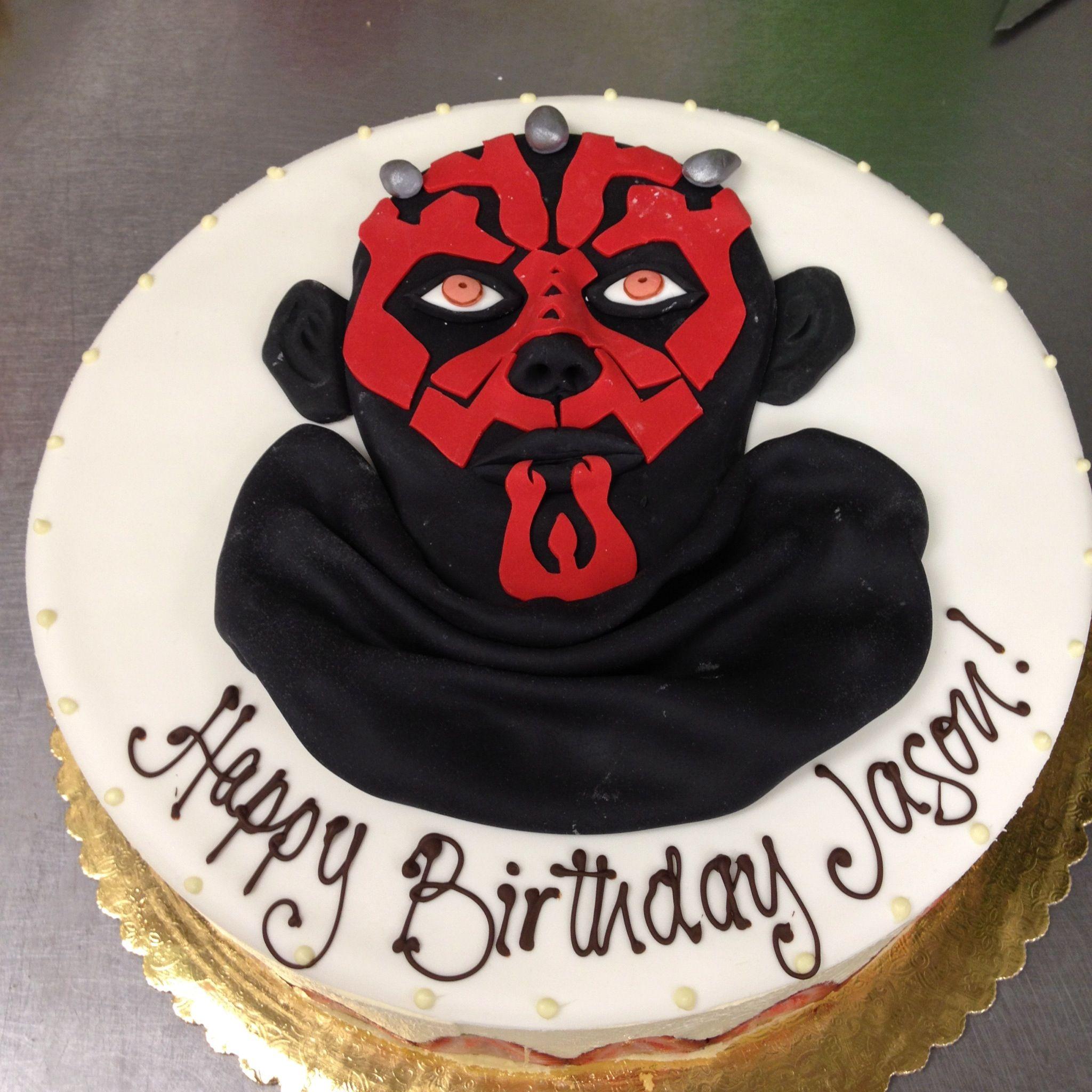 Star Wars Darth Maul Birthday Cake Cafeattila Cafe Attila