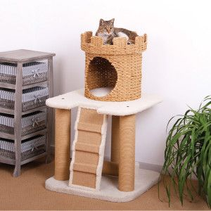 Petpals eco friendly sand castle cat condo petsmart my for Castle cat tower