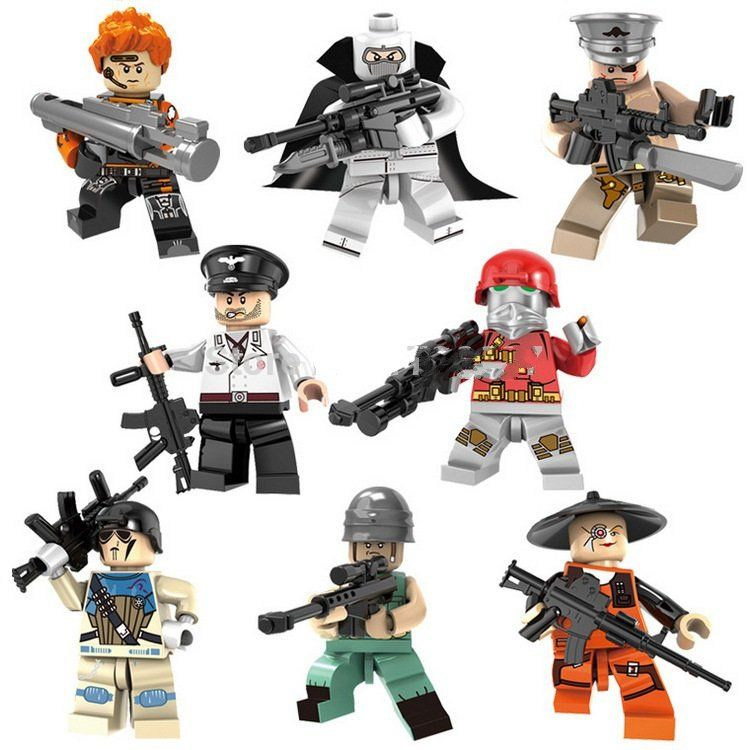 8Pcs Fortnite Custom mini figures personnages ACTION Building Blocks Toys Cadeau UK