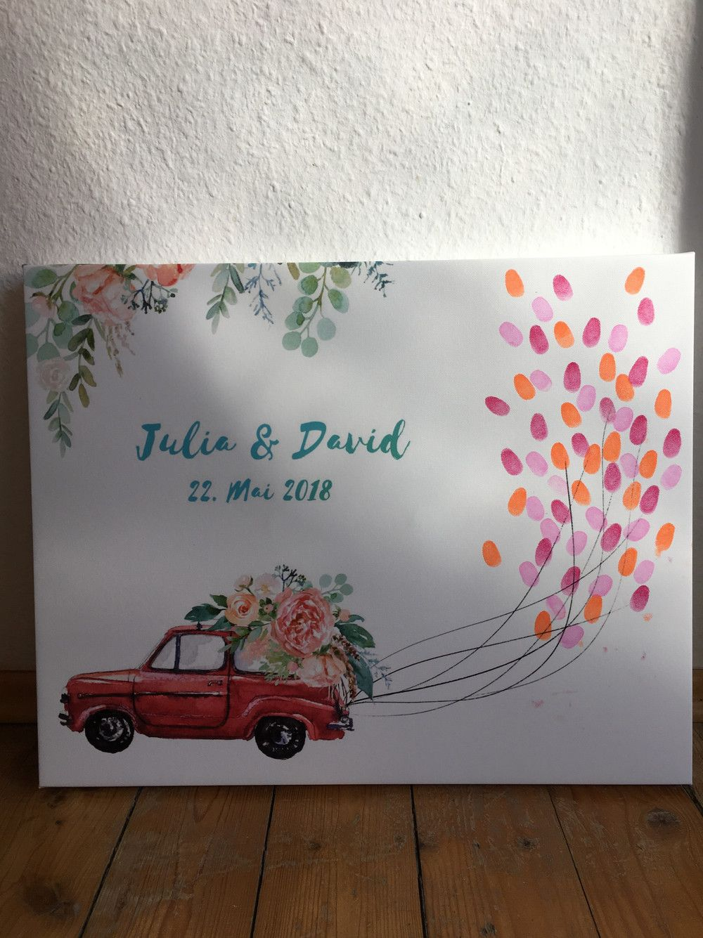 Wedding Tree Fingerprint Guestbook Wedding Car In 2019