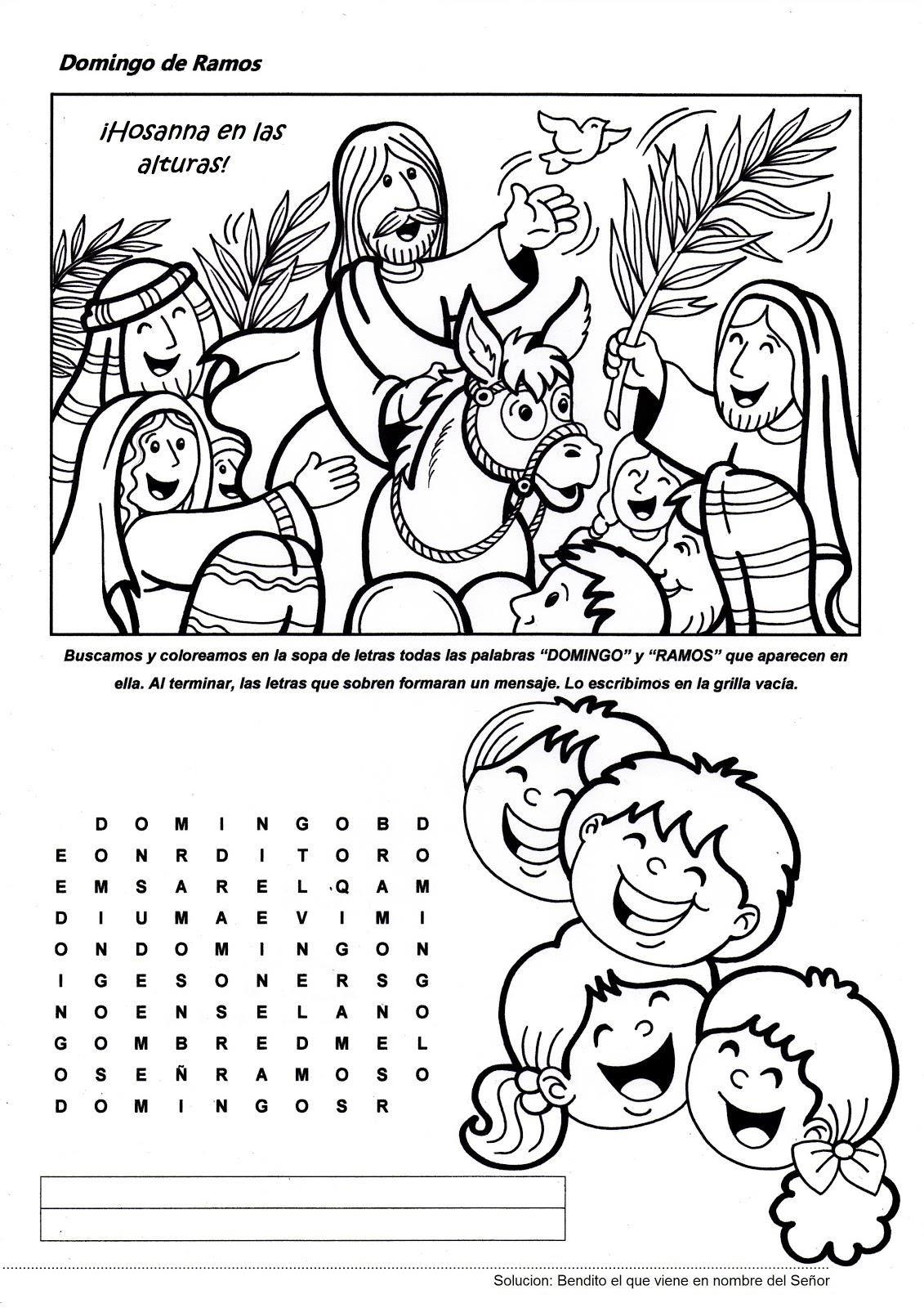 Domingo de Ramos   Kids Bible School   Pinterest   Domingo de ramos ...