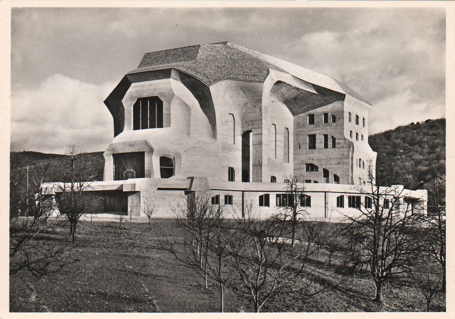 steiner rudolf second goetheanum dornach switzerland 1923 1928 expressionist. Black Bedroom Furniture Sets. Home Design Ideas