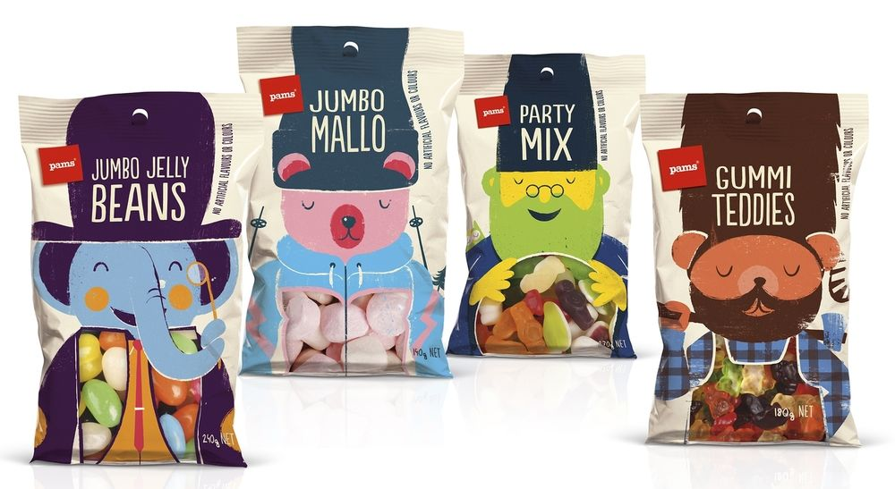 Pams Confectionery Range