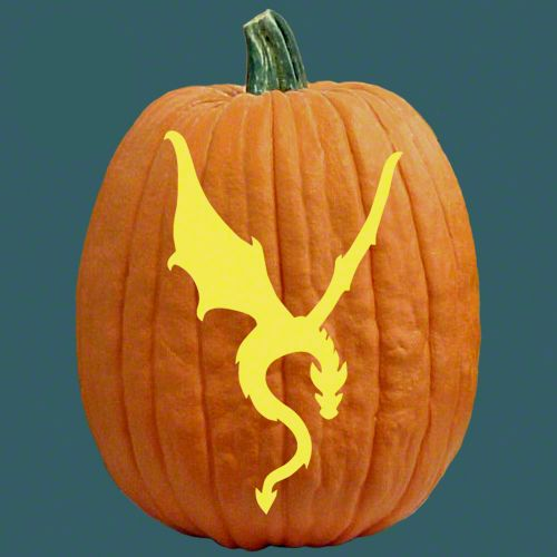 jack o lantern template dragon  Pumpkin Carving Patterns - Dragon | Pumpkin carving, Pumpkin ...
