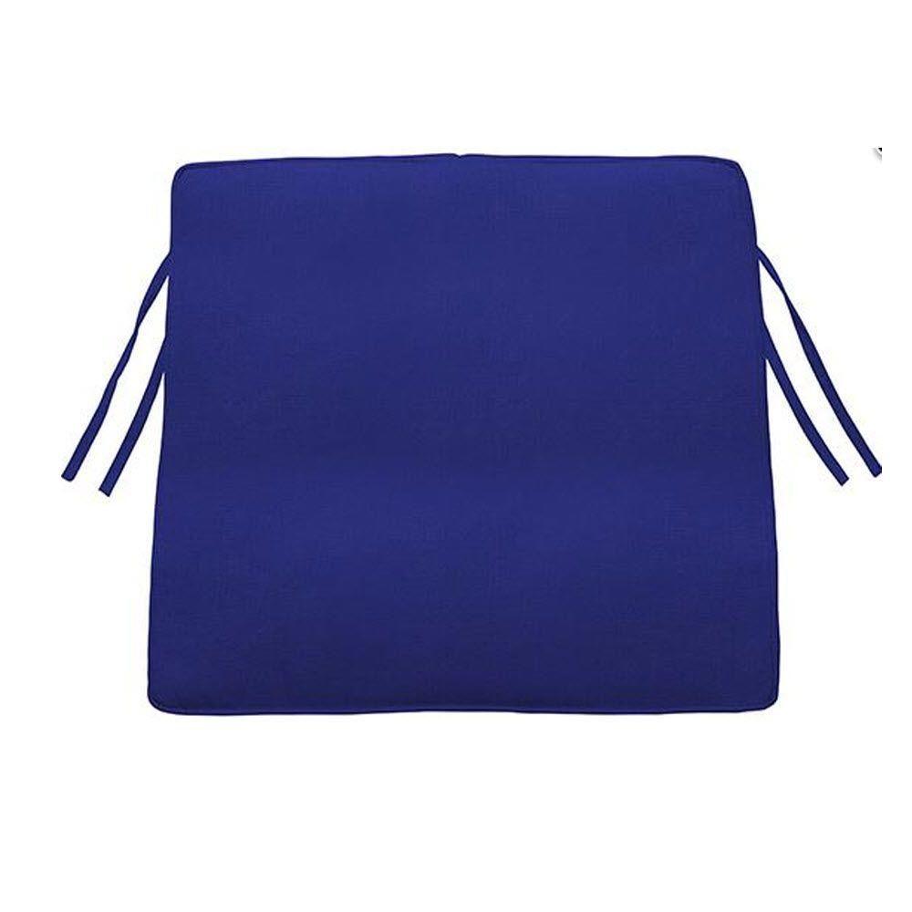 Home decorators collection sunbrella blue trapezoid outdoor seat