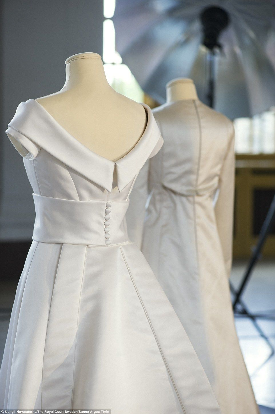 Crown princess victoria 39 s wedding dress designed by for Swedish wedding dress designer