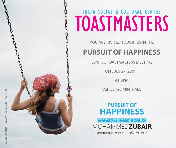 Invitation and Presentation Design for Toastmasters Meeting - best of invitation kick off meeting