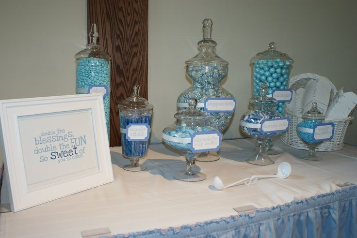 Twins Baby Shower Candy Buffet Apothecary Jars From @HomeGoods, Candy .