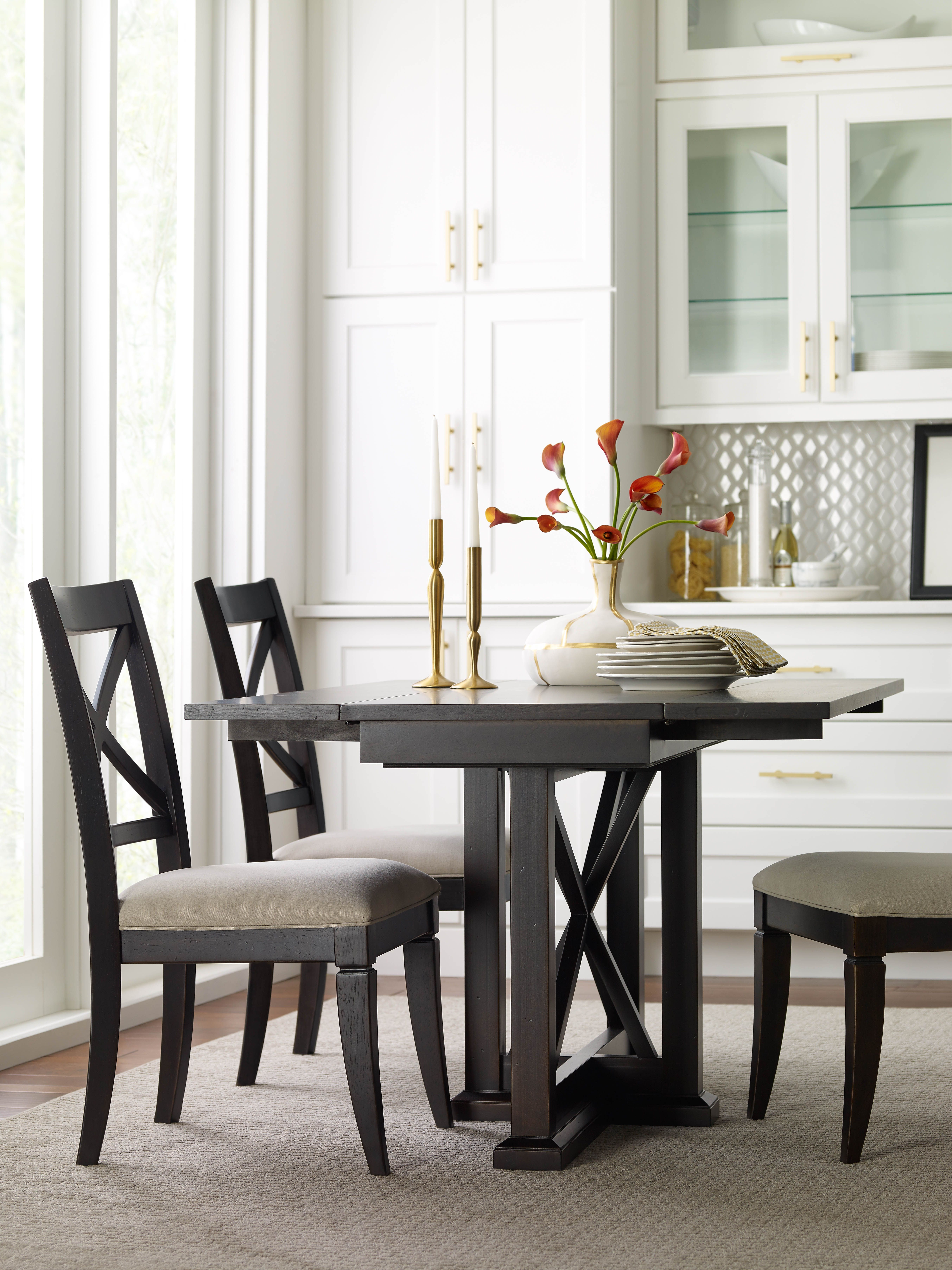 Rachael Ray Home Everyday Dining Drop Leaf Console Table With