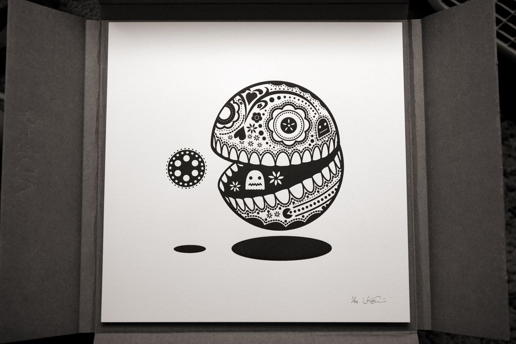 Sugar skull Pac-Man