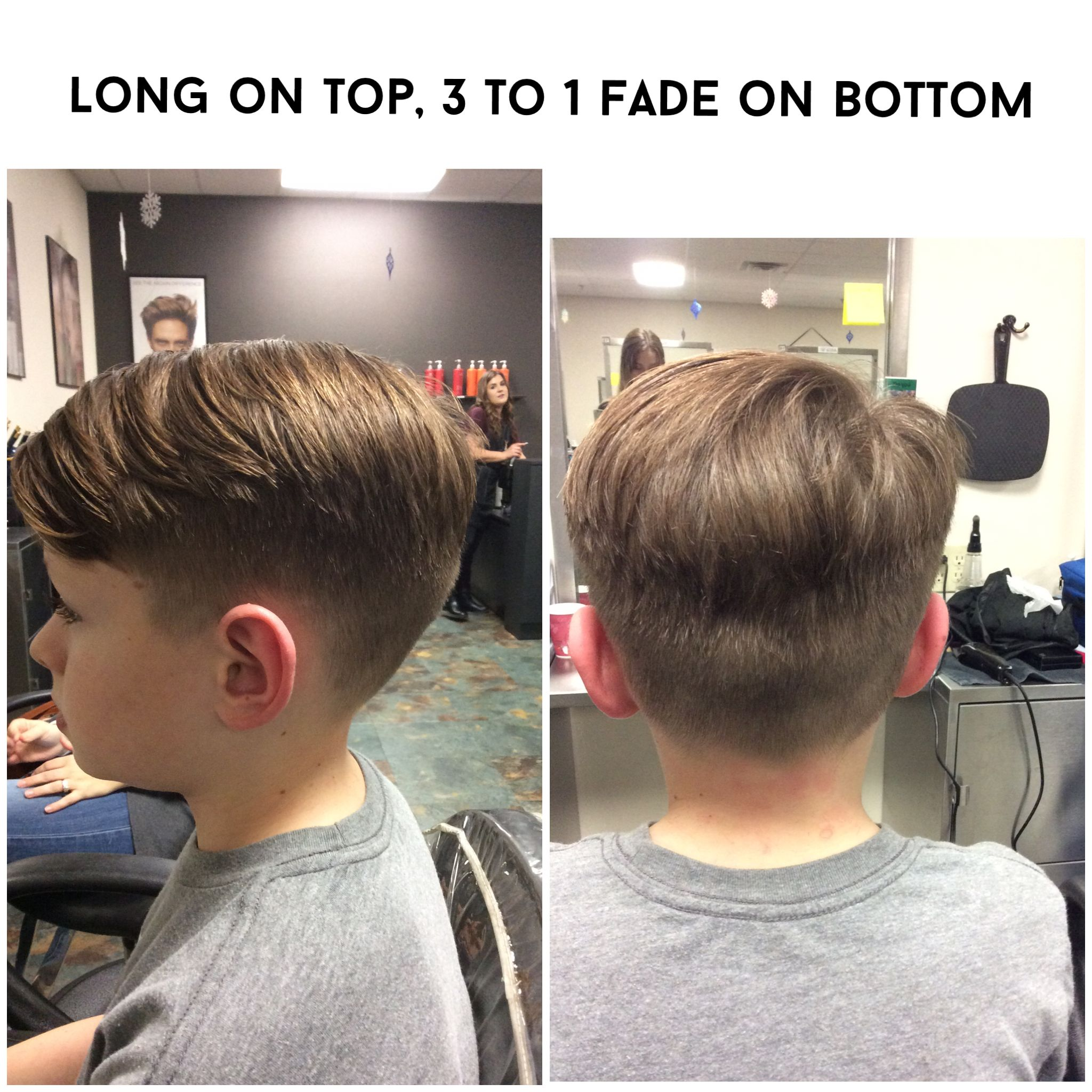 little boys fade, 1 to a 3 on bottom, inch off top | haircuts