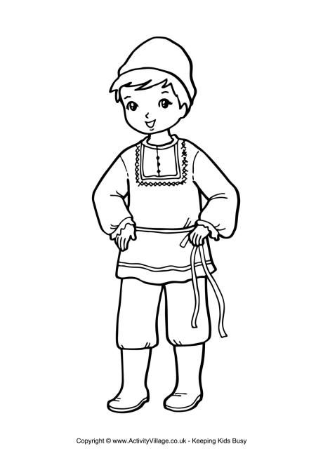 Russian Boy Colouring Page Coloring Pages For Boys Boy Coloring Coloring Pages