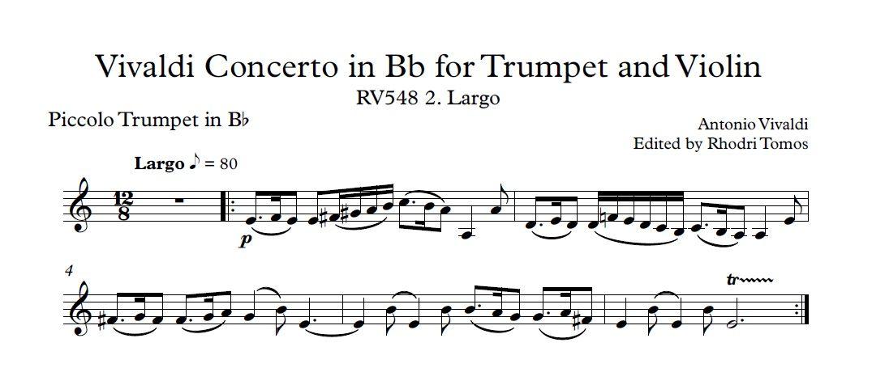 All Music Chords haydn trumpet concerto sheet music : Vivaldi RV548 Trumpet, Violin & Strings Concerto. Accompaniment ...