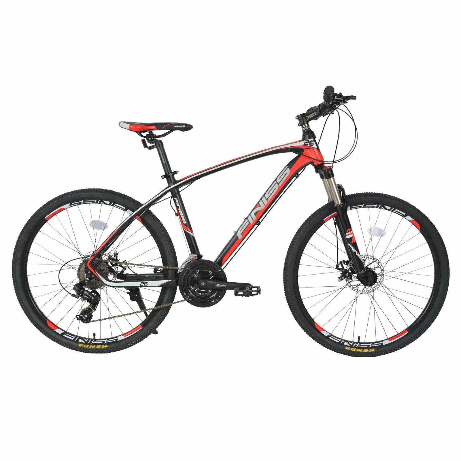 26 Aluminium Frame Mountain Bike Disc Brakes Mens Bikes 24 Speed
