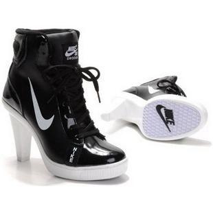 3cf853469cc5 Nike Swoosh High Heels in Black/White   Nike Swoosh High Heels ...