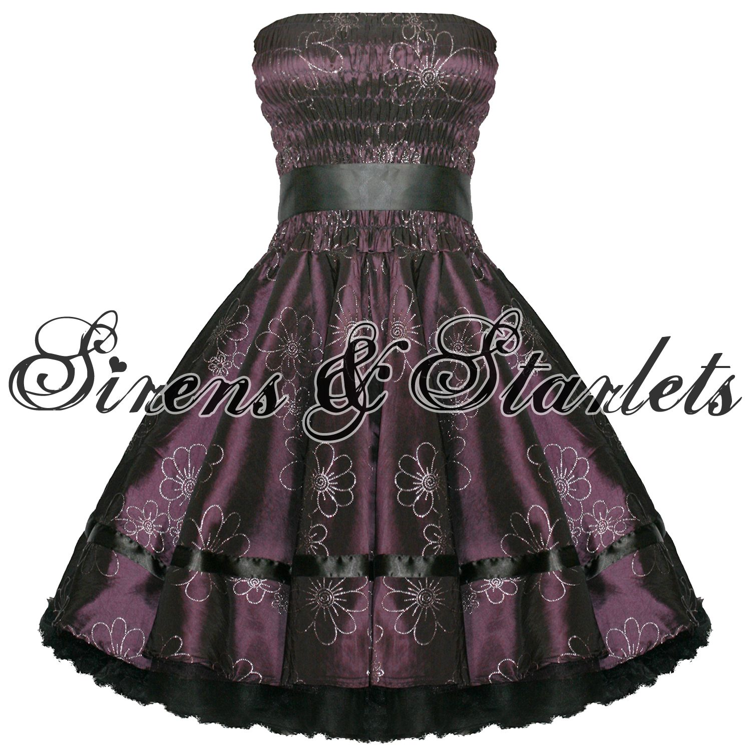 Purple floral glitter s pinup party prom dress prom boleros and