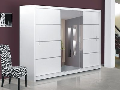 Modern Bedroom Sliding Door Wardrobe With Mirror Vista
