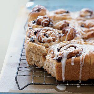 Whole-Wheat Cinnamon Rolls - Healthy Breakfast Recipes - Cooking Light