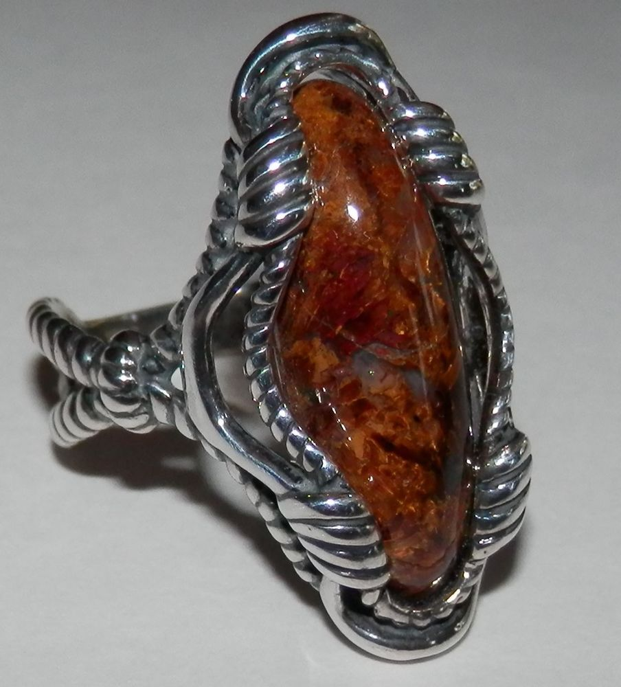 ring pietersite sterling rings s jewelry pin ebay silver