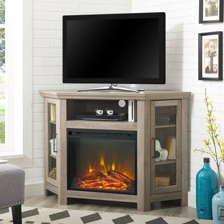 Corner Fireplace Tv Stand Media Console For Tvs Up To 55 Inch