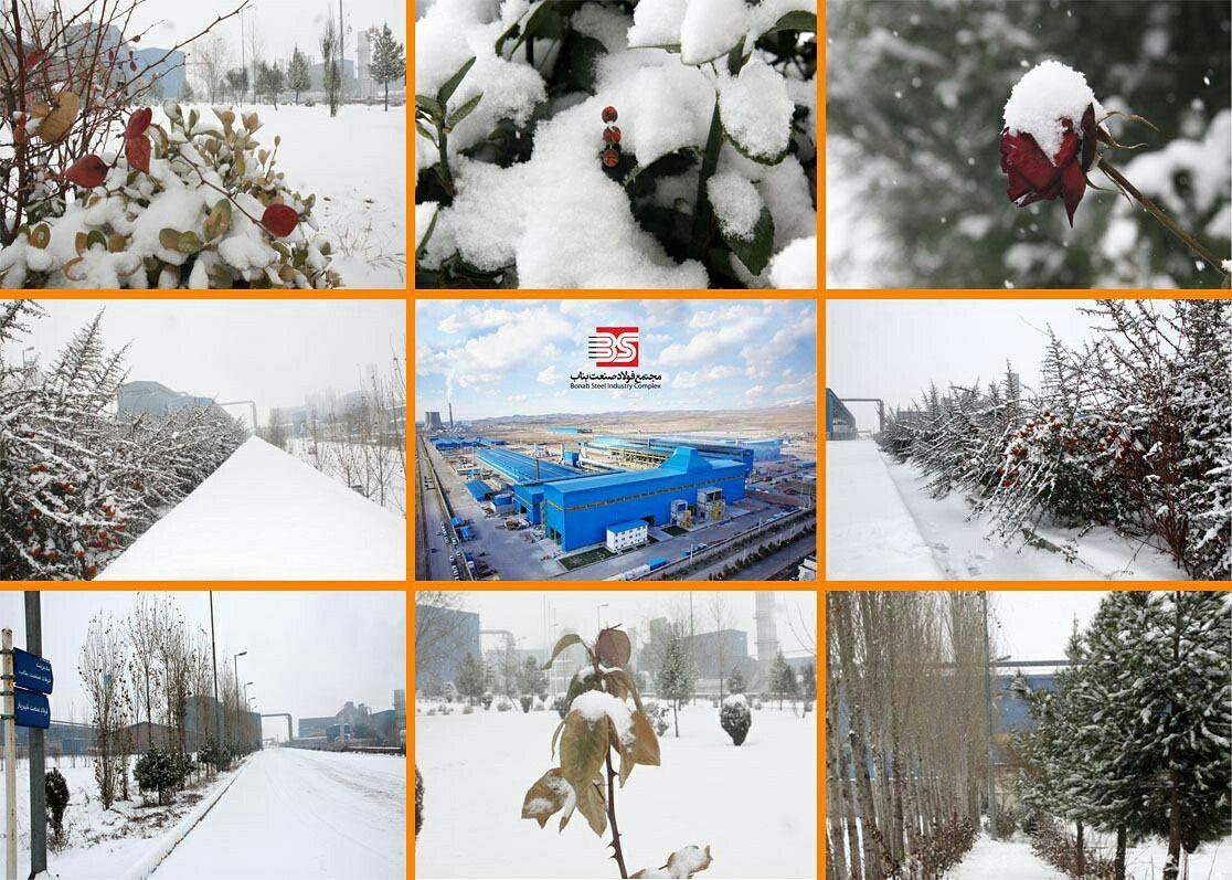 زیبایی های زمستان 1395 در مجتمع فولاد صنعت بناب