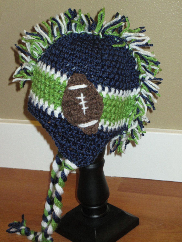 Seahawks mohawk hat   seahawks   Pinterest   Schals und Häkeln