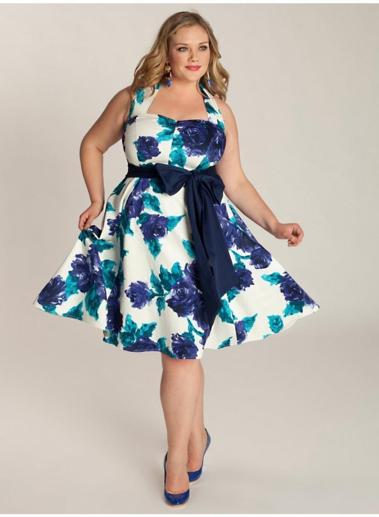 Summer short plus size dresses