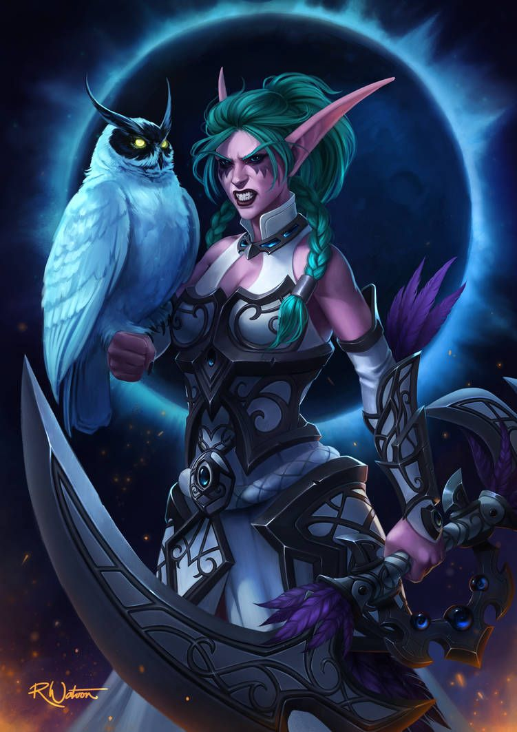 Night Warrior Tyrande Commission By Noodlepredator World Of Warcraft Characters World Of Warcraft World Of Warcraft Wallpaper
