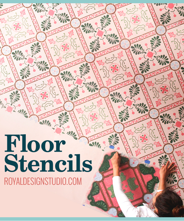 Painted Vinyl Linoleum Floor Makeover Ideas: Refinish Your Floor By Painting Directly Over Tile, Vinyl