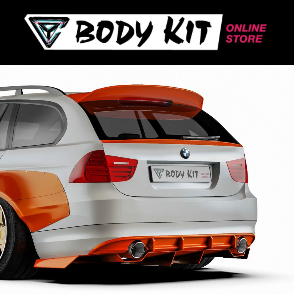 Details About Middle Wing Duck Tail Bmw E91 2004 2011 From Body
