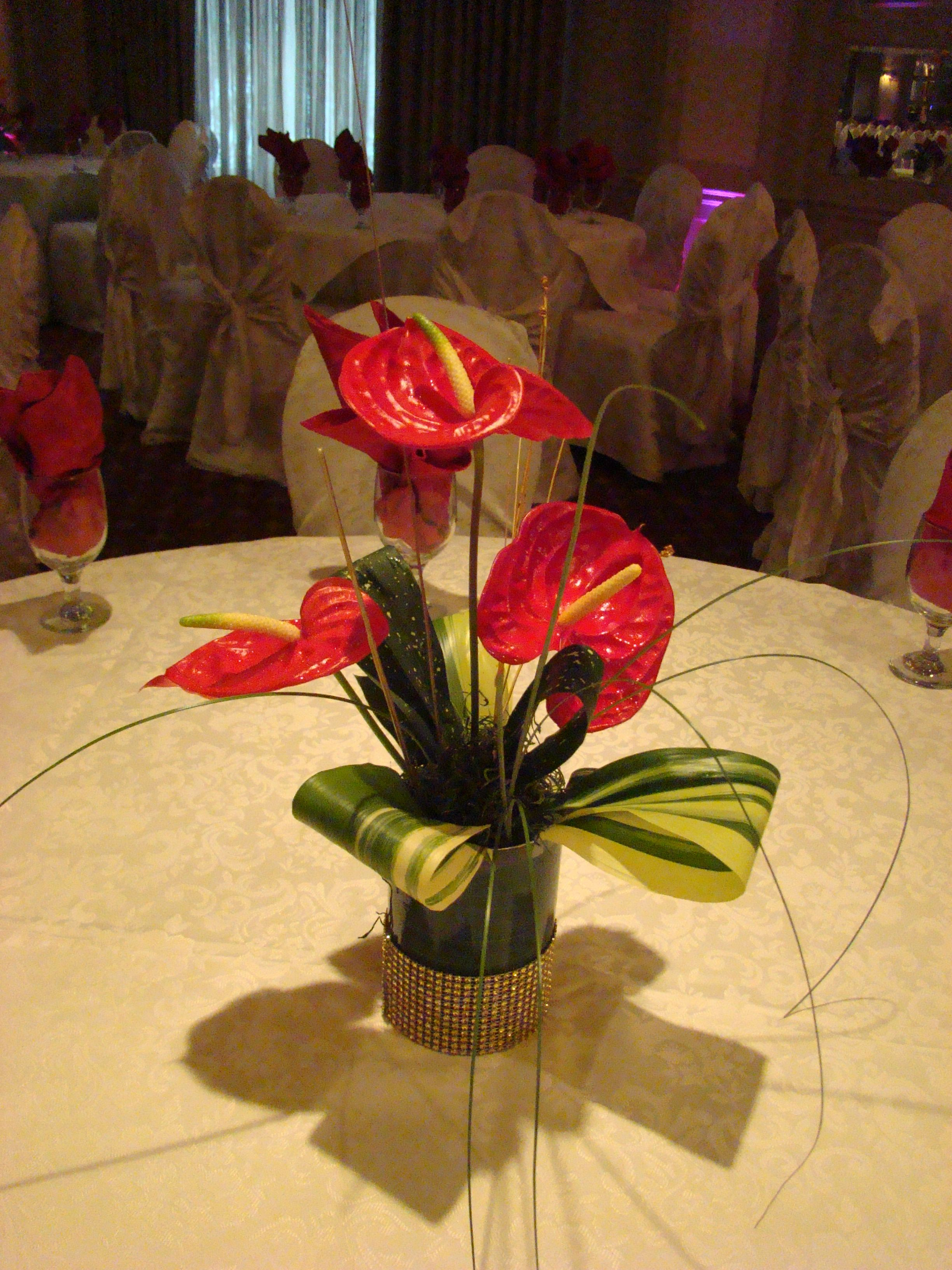 Anthuriums Simple And Effective For Your Tropical Theme Event Wedding Www Plushflowers Ca Tropical Theme Tropical Wedding Tropical