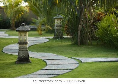 Photo of Curving traditional garden path in Bali, Indonesia    If you want to create a ga…
