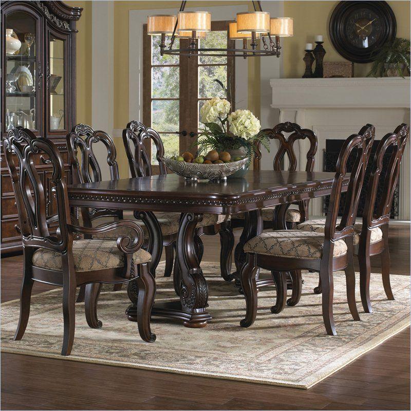 samuel lawrence san marino 7pc dining room set in dark brown