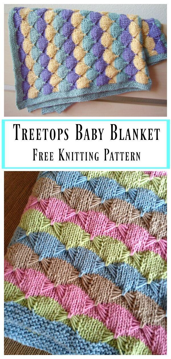 Treetops Baby Blanket Free Knitting Pattern   Pinterest   Knitting ...