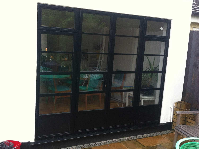 Black Art Deco Royale Doors With Flag Windows Replace Door Crittal Windows Doors