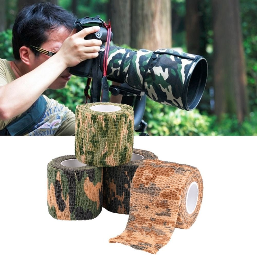 Elastische Camouflage Waterdichte Outdoor Hunt Camping Stealth Camo Wrap Tape Militaire Airsoft Paintball Stretch Bandage