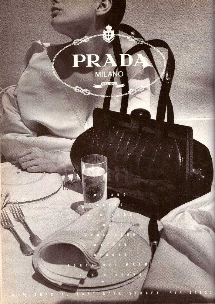 0069cb01a0be5 Details about 1988 Prada Purse Milano Italy Fashion Print ...