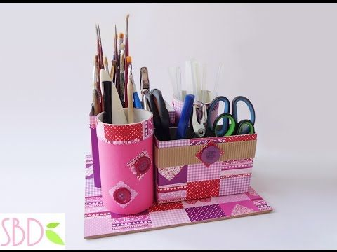 Tutorial: Porta oggetti con Riciclo - Objects holder with recycle - YouTube