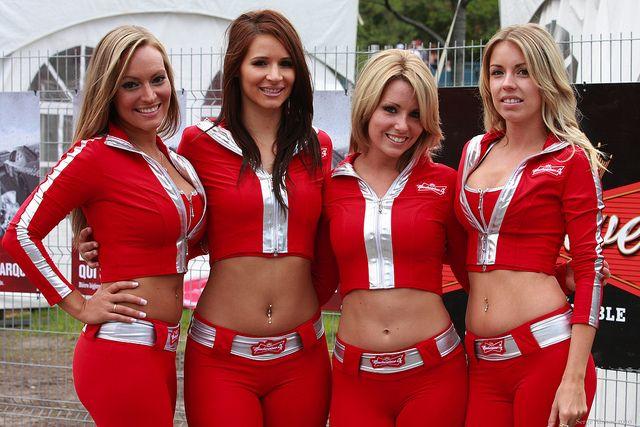 Budweiser Girls Budweiser The King Of Beers Grid Girls Car