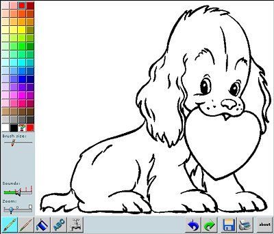 color valentines day pictures online with this fun coloring app or print the picture and - Online Coloring Pages