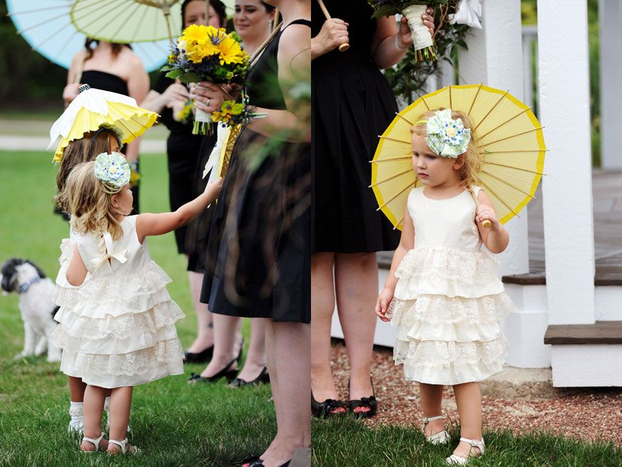 Sweet Flower Girls at Byron Colby Barn  Photo by Two Birds Photography