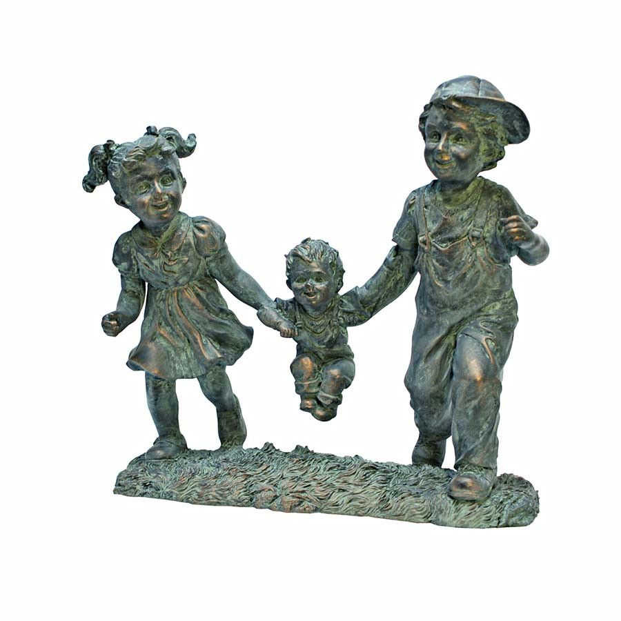 Park Avenue Collection Swing Time Children Garden Statue
