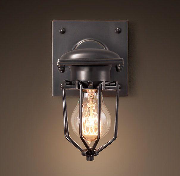 Metropolitan Railway Single Sconce Bronze Outdoor Lights Pinterest Restoration Hardware