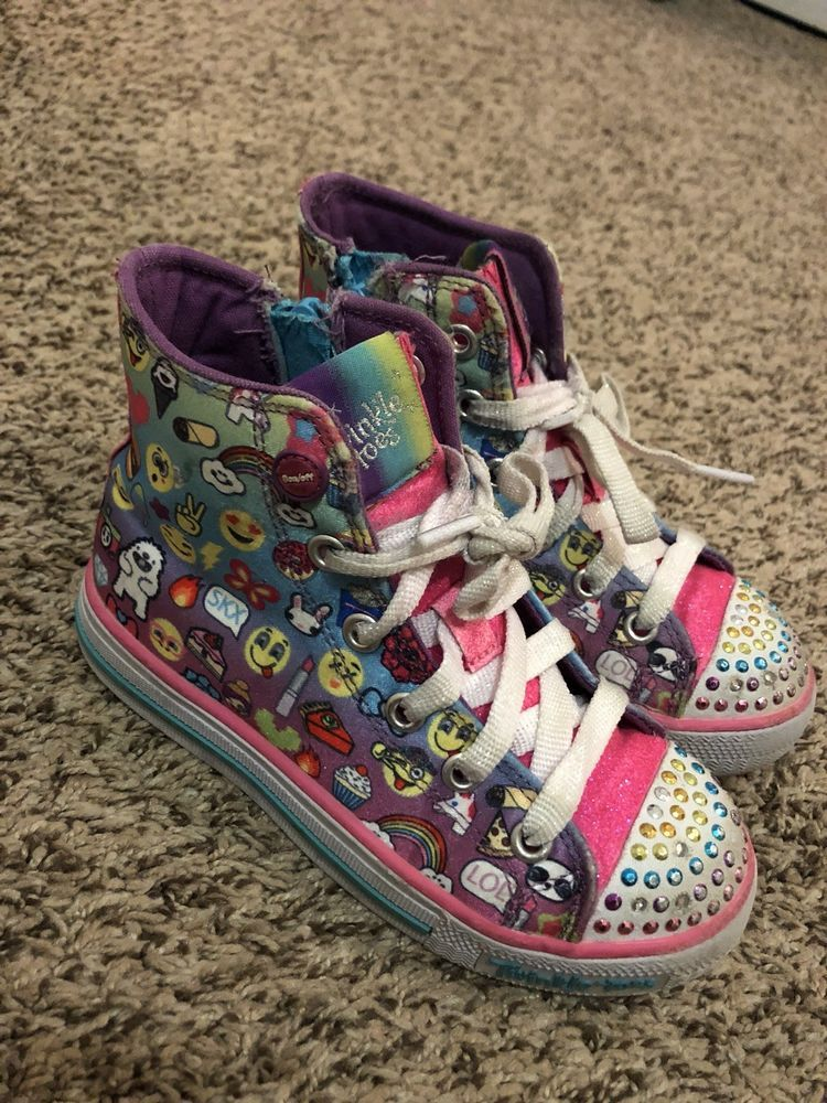 Skechers Twinkle Toes Size 11 5 High Tops Fashion Clothing