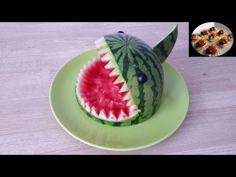 Pastèque requin (Idée déco) - APERITIF DINATOIRE - LA BOITE A RECETTES