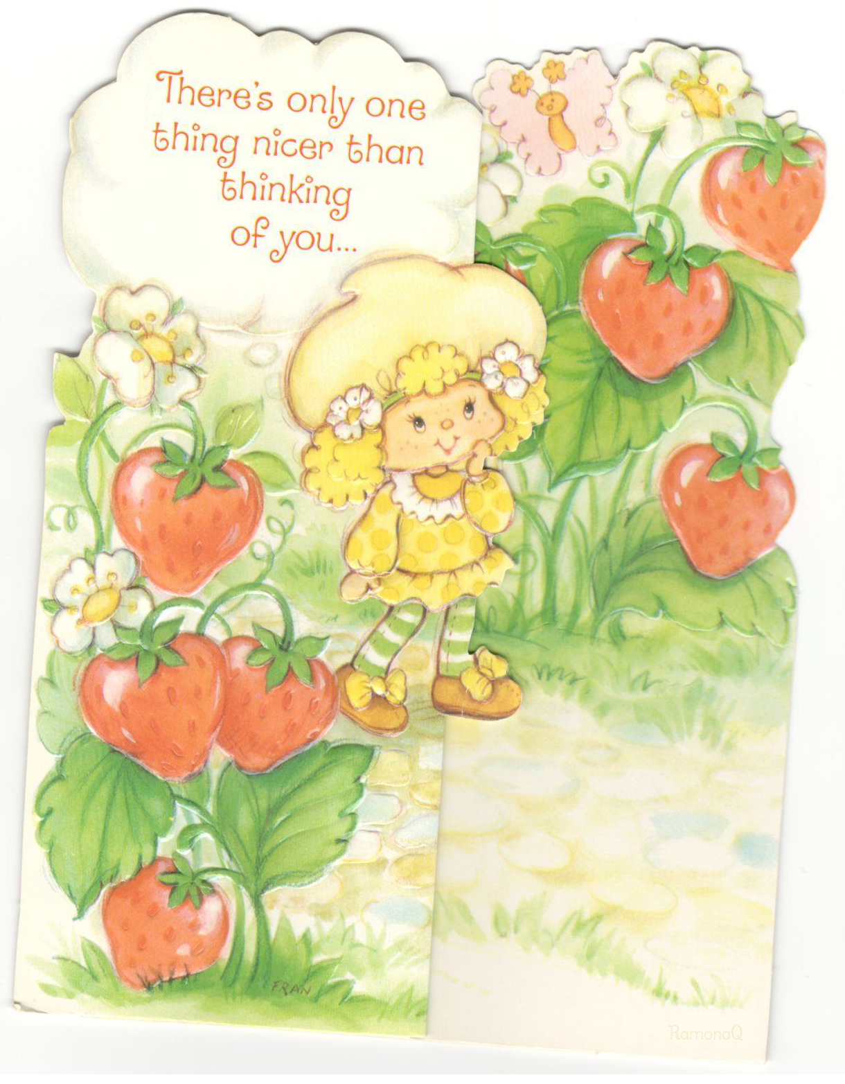 Vintage Kenner American Greetings Strawberry Shortcake Greeting