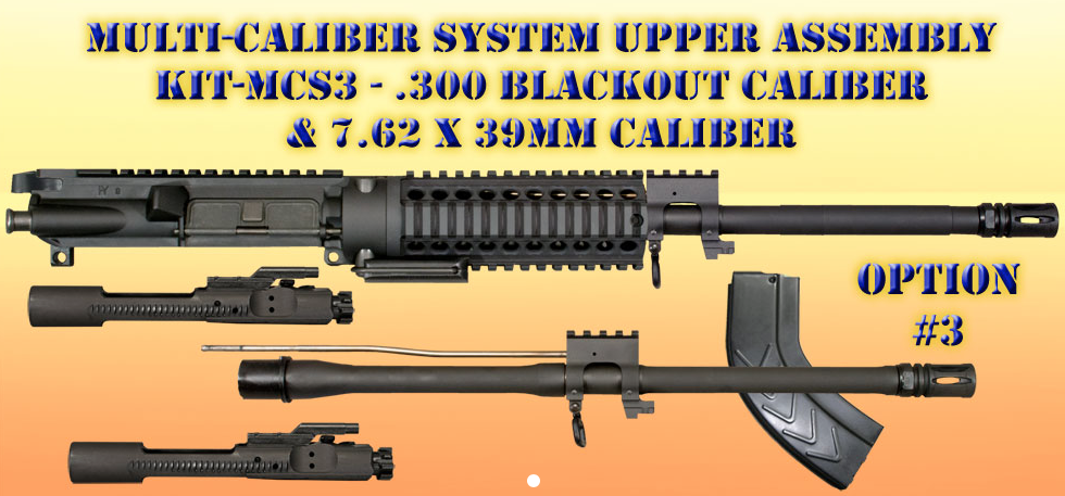 MCS Multi-Caliber  300 Blackout/7 62x39 Upper Receiver